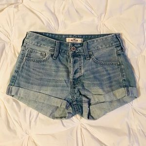 Hollister Button Front Jean Shorts